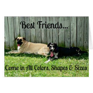 Best Friends Greeting Card for Big Dog Lovers