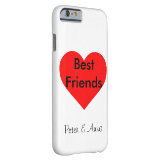 Best Friends heart Personalisierbar Barely There iPhone 6 Case