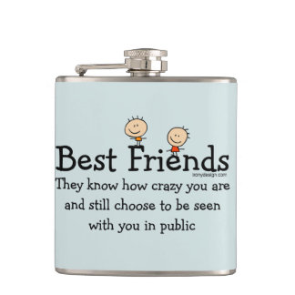 Best Friends Hip Flask