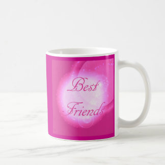 """Best Friends"" in Hot Pink Coffee Mug"