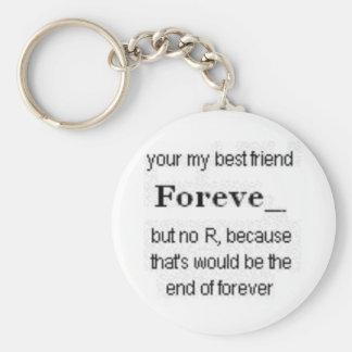 best friends key chain