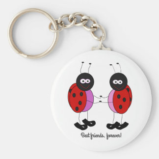 Best friends little ladybugs key ring