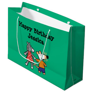 Best Friends Maisy and Dotty Hold Hands Large Gift Bag