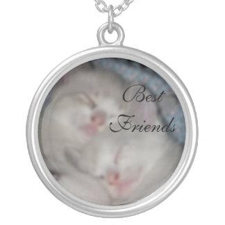 Best Friends Round Pendant Necklace