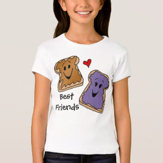 Best Friends, Peanut Butter Jelly Cartoon T-Shirt