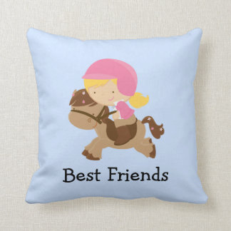 Best Friends Pony Pillow Throw Cushion