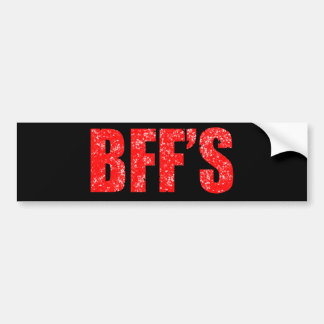 Best Friends Red Bumper Sticker