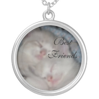 Best Friends Round Pendant Necklace