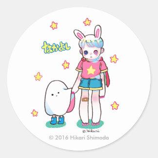 Best Friends Round Sticker, Glossy Classic Round Sticker