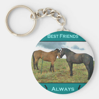 Best Friends sentiment with Horses Key Ring