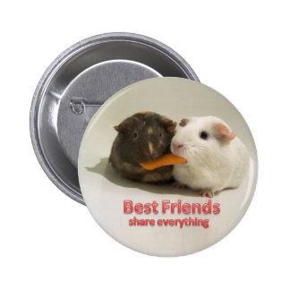 Best Friends share everything 6 Cm Round Badge
