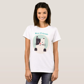 Best Friends Shirt kitty kitten White black Cat