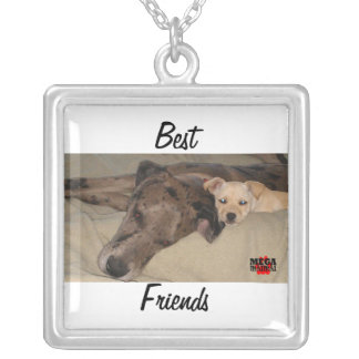 Best Friends Square Pendant Necklace