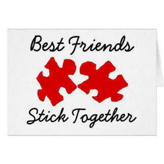 Best Friends Stick Together Puzzle Card
