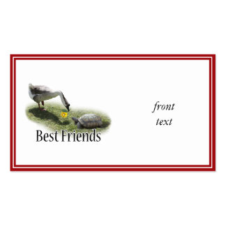 Best Friends - The Turtle & The Goose Pack Of Standard Business Cards