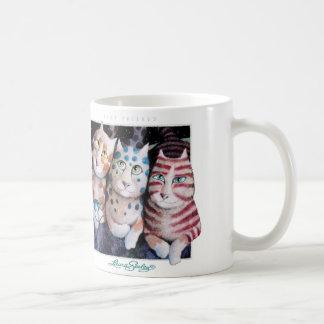 BEST FRIENDS ~ THREE OF LAURA'S MAGIC CATS COFFEE MUGS