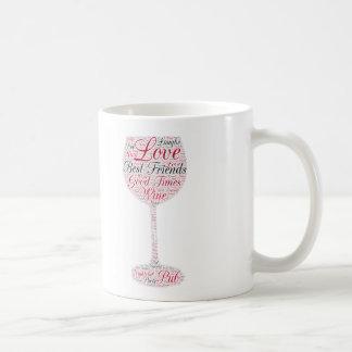 Best friends Wine Design Basic White Mug