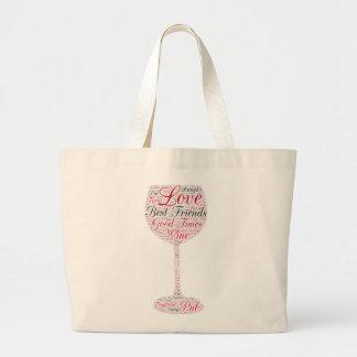 Best friends Wine Design Jumbo Tote Bag