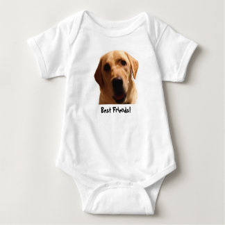 Best Friends | Yellow Lab Baby Bodysuit