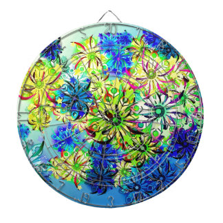Best gift blue abstract art for mother's day dartboard