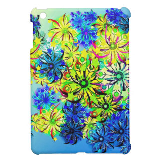 Best gift blue abstract art for mother's day iPad mini cover
