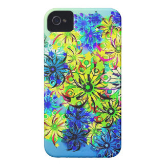 Best gift blue abstract art for mother's day iPhone 4 case