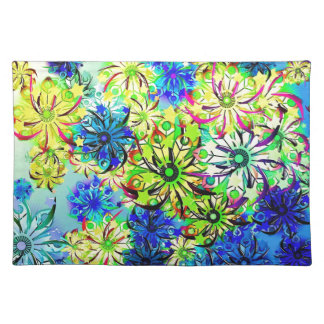 Best gift blue abstract art for mother's day placemat