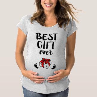 Best Gift Ever women's Pregnant Christmas Shirt
