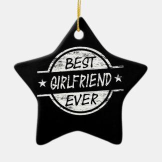 Best Girlfriend Ever White Ceramic Star Decoration