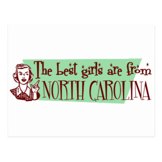 Best Girls are from North Carolina Postcard
