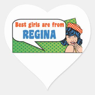 Best girls are from Regina Heart Sticker