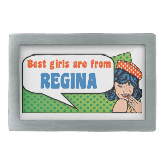 Best girls are from Regina Rectangular Belt Buckles