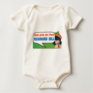 Best girls are from Richmond Hill Baby Bodysuit