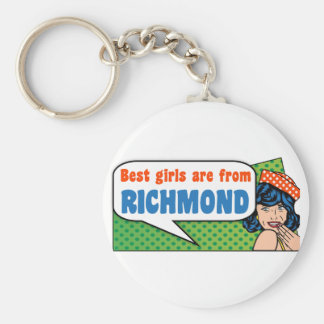 Best girls are from Richmond Key Ring