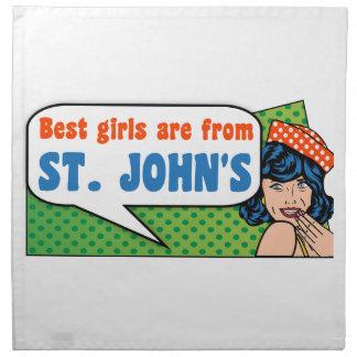 Best girls are from St. John's Napkin