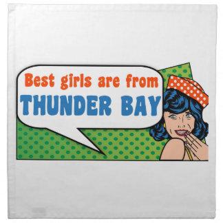 Best girls are from Thunder Bay Napkin