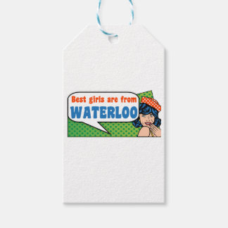 Best girls are from Waterloo Gift Tags