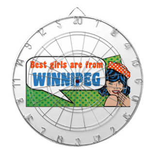 Best girls are from Winnipeg Dartboard