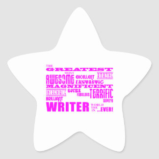 Best Girls Authors Writers : Pink Greatest Writer Stickers