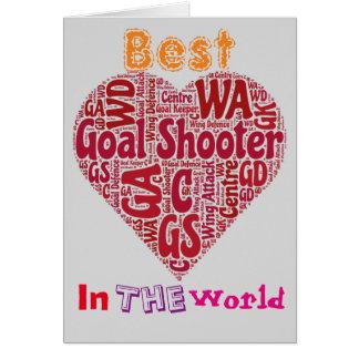 Best Goal Shooter Love Netball Card