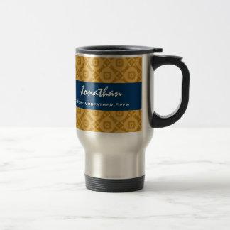 Best GODFATHER Gold and Navy Custom Gift Idea Travel Mug