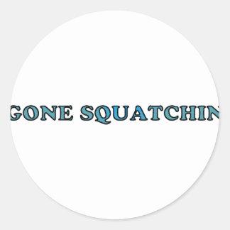 Best Gone Squatchin Funny Round Sticker