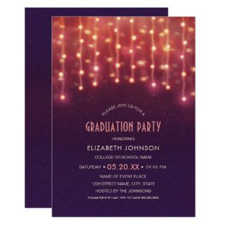 String Light Graduation Invitations & Announcements Zazzle.com.au
