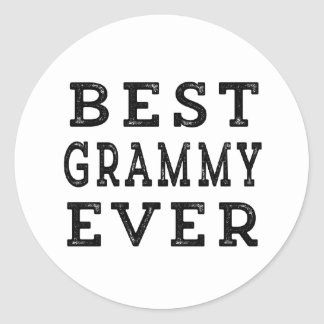 Best Grammy Ever Classic Round Sticker