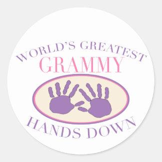 Best Grammy Hands Down T-shirt Stickers