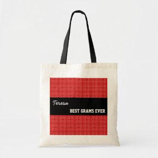 Best Grams Ever Custom Name Red Squares 002 Bags