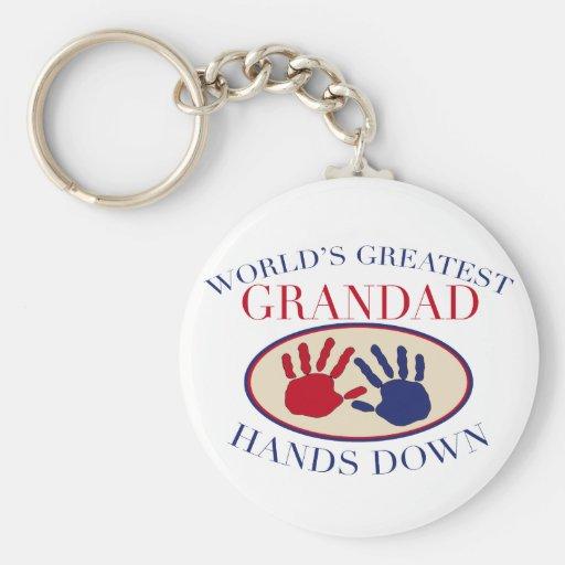 Best    Grandad Hands Down Keychain