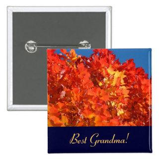 Best Grandma buttons Grandmas Autumn Leaves