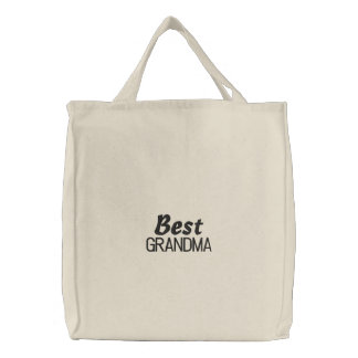 Best Grandma Embroidered Bag