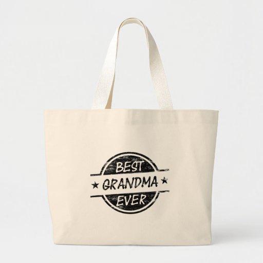 Best Grandma Ever Black Bag